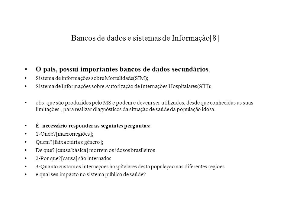 Bancos de dados e sistemas de Informação[8]